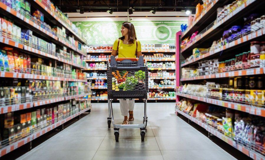 donna in supermercato Sistemi raffrescamento aria